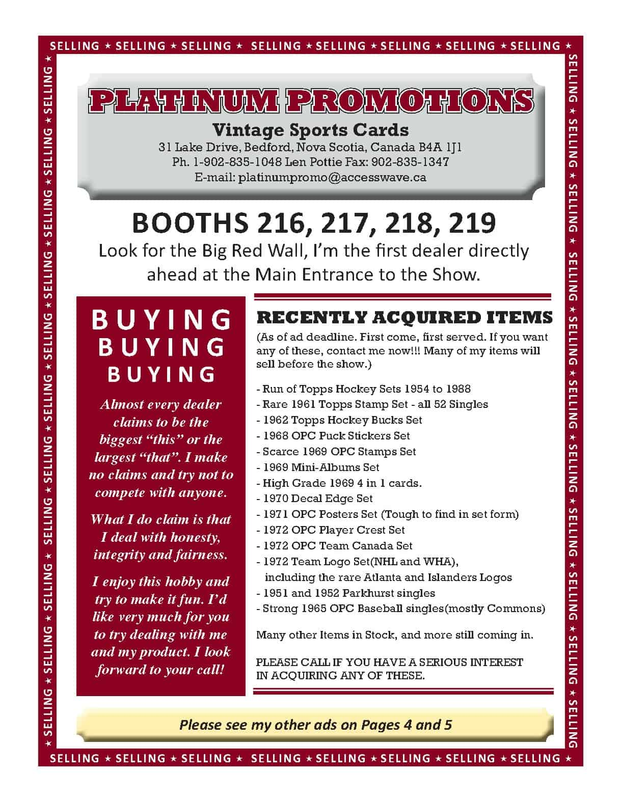 SCME18 NOV Ad Platinum Promotions1 - Magazine